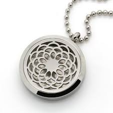 hypoallergenic 316 stainless stell aromatherapy essential oil diffuser locket pendant