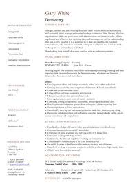 Data Entry Cv Sample Accurate Data Entry Experience Of Working In