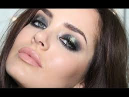 tutorial on smoked out glittery greens party makeup tutorial by sy b check out more makeup on bellashoot
