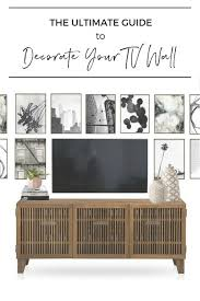 Using mixed media decor around your television—from framed art to ceramics, decorative objects, vases, and plants. The Ultimate Guide To Decorating A Tv Wall Jessica Devlin Design