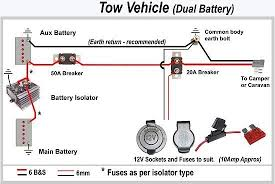 caravan & camper battery charging @ exploroz articles Simple Caravan Wiring Diagram dual battery vehicle simple caravan wiring diagram