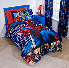 spiderman toddler bed set curtain