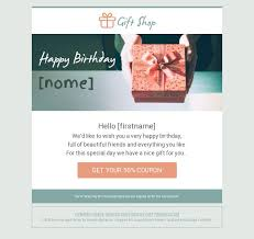 Birthday Greetings Service Promotion Email Template Bee Free