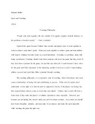 Coaching Philosophy Paper