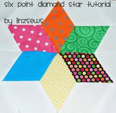 Star Pattern Quilt New Linz Sews Six Point Diamond Star Tutorial