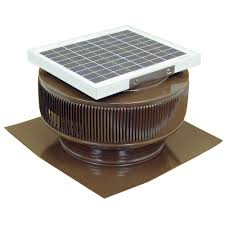 active ventilation 740 cfm brown powder coated 10 watt solar powered 12 in dia