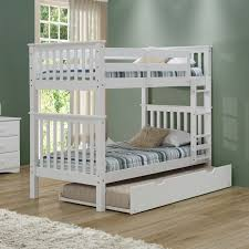 Camaflexi Santa Fe Mission Tall Bunk Bed Twin over Twin - Attached Ladder    Hayneedle