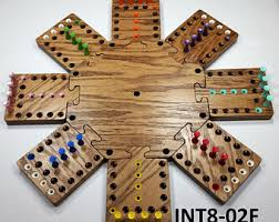 Wooden Sequence Board Game Wooden Sequence Board Game Wood game board Etsy 100 13