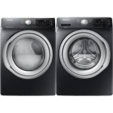 black washer and dryer. Samsung Front Load Washer And Dryer Set - Black Stainless Steel Electric   RC Willey Furniture Store O