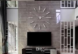 simple large clock creative rocket wall