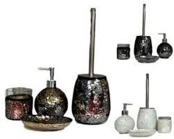 Toilet Pumper Details About Set Of 4 Mosaic Bathroom Set W Toothbrush Soap Holder Liquid Pumper Toilet Brush