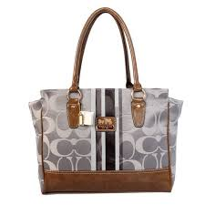 Coach Candace In Signature Medium Grey Satchels BFN