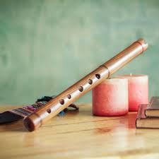 quena wood inca flute with case handmade in peru jacaranda