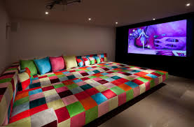 media room Eclectic Home Theater Other by Elad Gonen