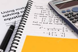 step to using matrices when solving system of equations with yellow paper note stock