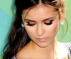 nina dobrev her eye makeup is beautiful
