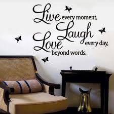 Quote Word Decal Vinyl Home Room Decor Art DIY Wall Stickers Bedroom  Removable Q