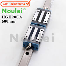 Noulei <b>1pcs</b> 20mm <b>HGR20 Linear Guide</b> Rails <b>600mm</b> HGH20 + ...
