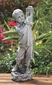 firefly jar solar garden statue
