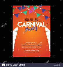 Sample Party Invite Happy Brazilian Carnival Day Orange Carnival Party Invitation Card