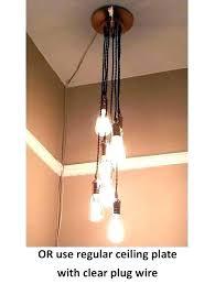 hanging plug in chandelier pendant light chandeliers home improvement with hanging plug in chandelier