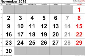 Calendar Free Download November 2015 Calendar November 2015 Calendar