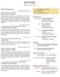 Two Column One-Page CV