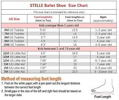 5 Year Old Boy Shoe Size Chart Stelle Girls Ballet Practice Shoes Yoga Shoes For Dancing Black 6m Toddler