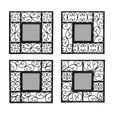 unusual ideas design mirror sets wall decor top 20 decorative grouping black set of 3 round