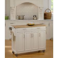 Kitchen Cart With Doors Home Styles Create A Cart White Kitchen Cart With Natural Wood Top