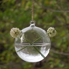 Decorative Hanging Glass Balls Custom Diameter = 32cm 32pcspack Round Bottom Hanging Glass Ball Vase Home