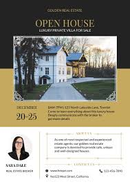 real estate flyer templates open house for villa real estate flyer template template fotojet