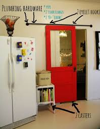 diy sliding barn door way easy and can definitely be temporary for apartments