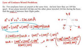 math laws math 1a 1b pre calculus law of cosines word problem uc irvine