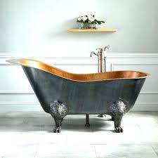 vintage bathtub vintage bathtub for antique bathtub hammered copper slipper tub with bright copper interior