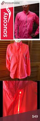 Saucony Light Up Jacket Saucony Vizipro Light Up Running Jacket Coral Pink Saucony