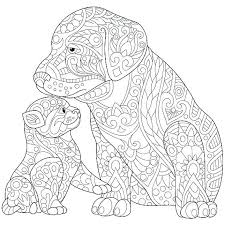 Pretty Design Ideas Cats And Dogs Coloring Pages Of Cute Adult