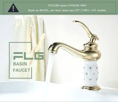<b>FLG Basin Faucet</b> Gilt Porcelain Golden Bronze Single Handle Taps ...