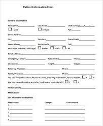 patient information form general information form samples 9 free documents in word pdf