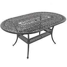 aluminum dining sets patio furniture. rosedown large cast aluminum oval table. 7 piece patio dining set sets furniture