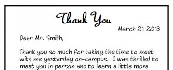 Awesome Collection Of Sample Handwritten Thank You Letter After Best