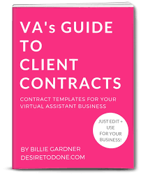 Basic Contract Outline Virtual Assistant Contracts Desire To Done