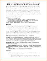 Apa Lab Report Example