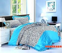 cheetah print queen comforter set animal print quilts blue leopard print bow ruffle turquoise bedding set cheetah print queen comforter set