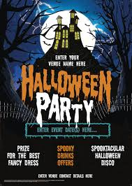 Fancy Flyers Halloween Party Flyer House On The Hill Promote Your Pub