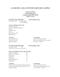 High School Resume Template Word Student Activity Perfect Activities