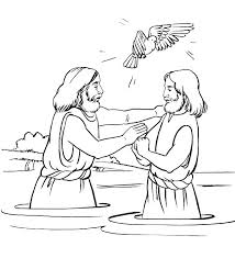 Jesus Coloring Pages For Kids Page Baptism Of About Spring