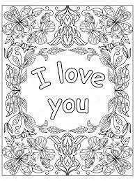 Valentine Ich Liebe Dich Zitieren Erwachsene Malvorlagen Stockfoto