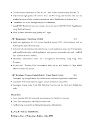 Net Developer ResumeMing Zhao Best Net Developer Resume