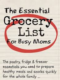 Typical Grocery List How To Create Your Essential Grocery List Mums Make Lists